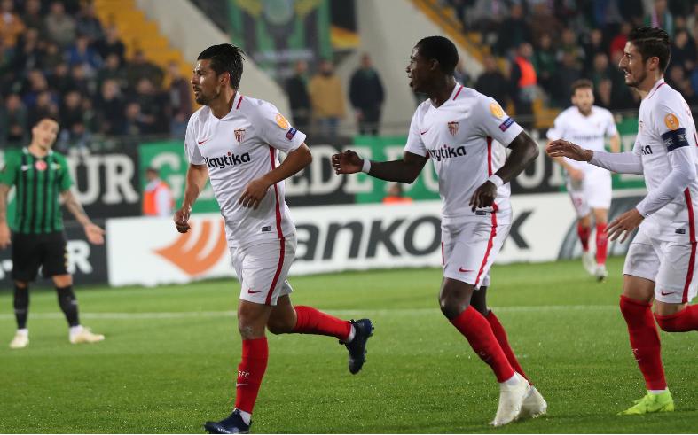 欧冠-卢克德容制胜球 塞维利亚1-0小胜雷恩